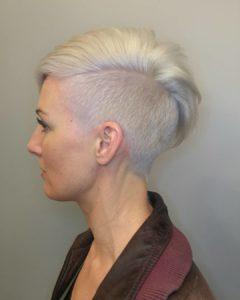 short blond haircut